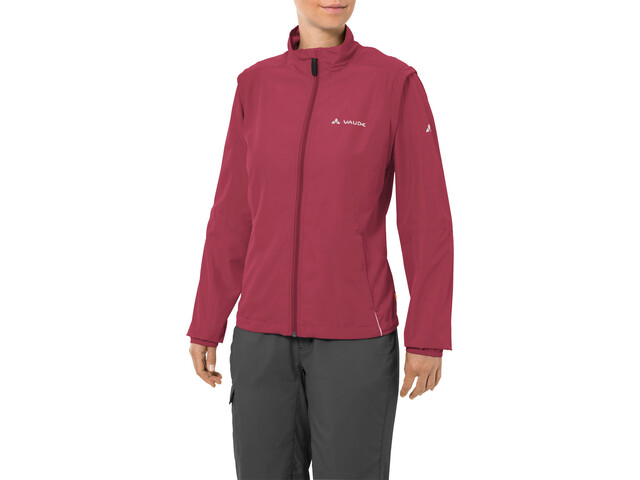 VAUDE Dundee Classic Zip-Off Jacket Women red cluster
